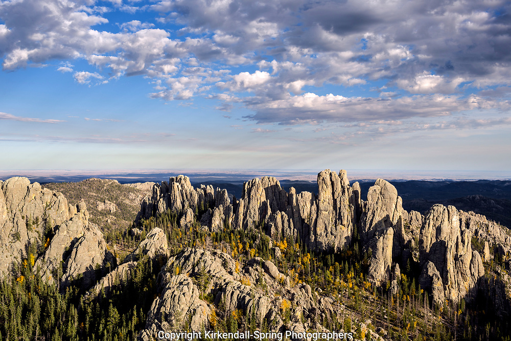 SD00075-00...SOUTH DAKOTA - The Cathedral Spires viewed from Little Devils Tower in Custer State Park.