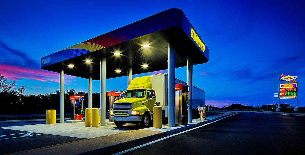 Sunoco truck stop on Interstate 95 in maryland