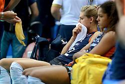 01-10-2014 ITA: World Championship Volleyball Servie - Nederland, Verona<br /> Nederland verliest met 3-0 van Servie en is kansloos voor plaatsing final 6 / Manon Flier, Celeste Plak