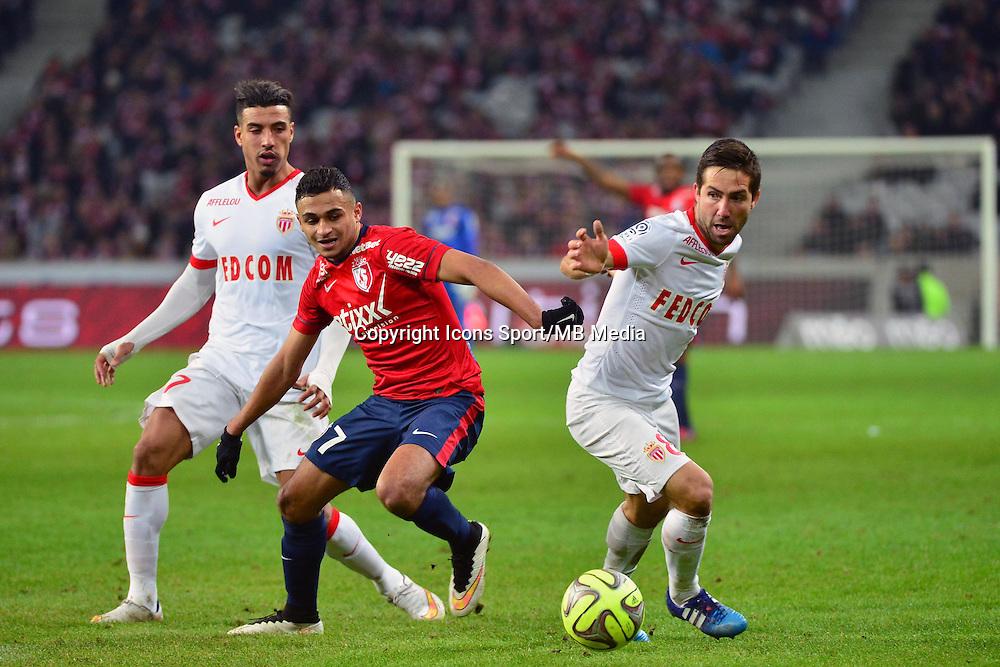 Joao MOUTINHO / Sofiane BOUFAL  - 24.01.2015 - Lille / Monaco - 22eme journee de Ligue1<br />Photo : Dave Winter / Icon Sport