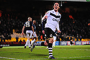 Louis Dodds of Port Vale FC celebrates Port Vale's third goal during the Sky Bet League 1 match between Port Vale and Southend United at Vale Park, Burslem, England on 26 February 2016. Photo by Mike Sheridan.