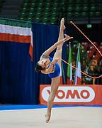 Sarah Re atleta della società Auxilium di Genova durante la seconda prova del Campionato Italiano di Ginnastica Ritmica.<br /> La gara si è svolta a Desio il 31 ottobre 2015