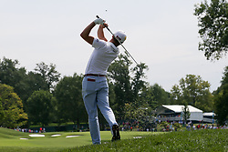 August 9, 2018 - St. Louis, Missouri, United States - Justin Thomas hits out of the rough during the first round of the 100th PGA Championship at Bellerive Country Club. (Credit Image: © Debby Wong via ZUMA Wire)