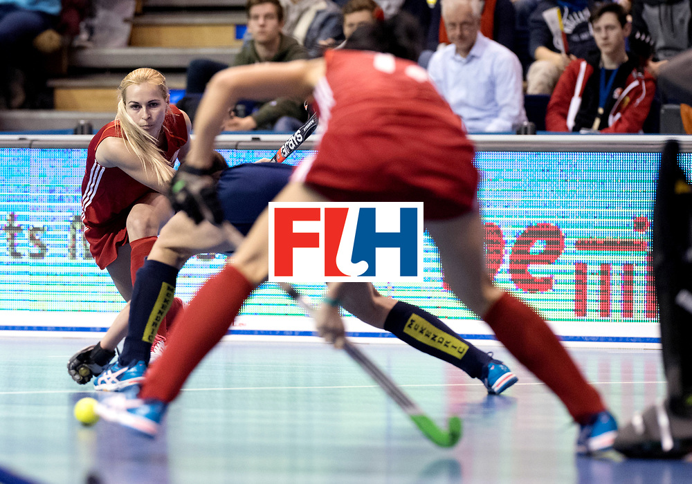 BERLIN - Indoor Hockey World Cup<br /> Bronze: Ukraine - Belarus<br /> Belarus wins 3rd place.<br /> foto: <br /> WORLDSPORTPICS COPYRIGHT FRANK UIJLENBROEK