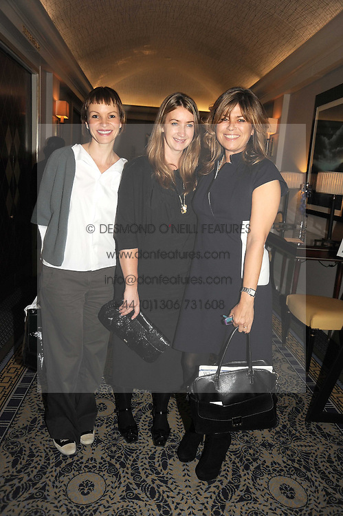 Left to right, MARCIA KILGORE, ANYA HINDMARCH and SARAH STANDING at the In Style Handbag Auction is association with Revlon raising money for the Rainbow Trust children's charity held at the Berkeley Hotel, Knightsbridge, London on 4th November 2008.
