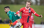 Jonas Henriksen (FC Helsingør) under kampen i 2. Division mellem Boldklubben Avarta og FC Helsingør den 10. november 2019 i Espelunden (Foto: Claus Birch).
