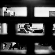 DAILY VENEZUELA / VENEZUELA COTIDIANA.School in Caracas, Caracas, Venezuela 2001.(Copyright © Aaron Sosa)