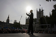 The white middle-classes gathered in Parliament Square to protest against plans for a third runway at Heathrow airport - blighting, they say, thousands of homes in London's aviation hub's flight paths - especially to the west of the capital. Central to the demonstration were both London mayoral candidates: the Conservative Zac Goldsmith and Labour's Sadique Khan.