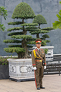 Guard at Ho Chi Minh Mausoleum.
