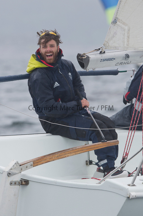 Silvers Marine Scottish Series 2017<br /> Tarbert Loch Fyne - Sailing<br /> <br /> Luke Patience onboard GBR7031N, CRHU, Neill Ross, RNCYC, Hunter 707 OD<br /> <br /> Credit: Marc Turner / CCC