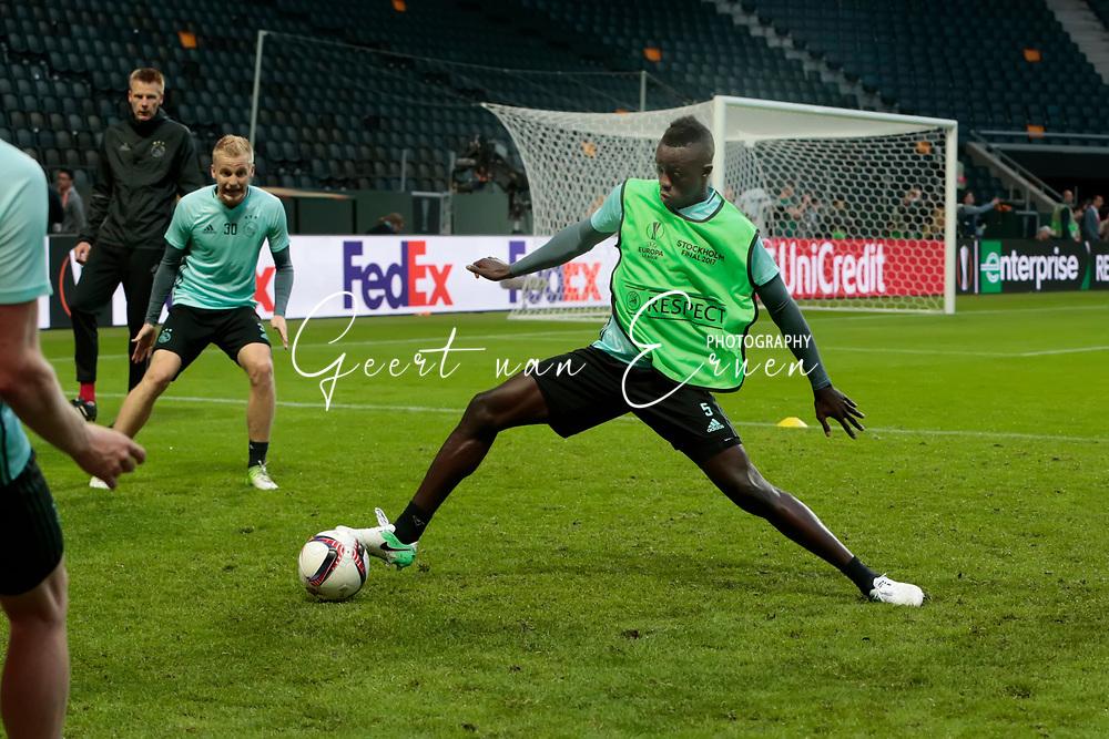 23-05-2017 VOETBAL:FINALE EUROPA LEAGUE:STOCKHOLM<br /> <br /> Ajax traint in het stadion dag voor de wedstrijd. Manchester United proefde alleen aan het veld vanwege de aanslag in Manchester. Davisson Sanchez van Ajax <br /> <br /> Foto: Geert van Erven