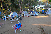 Tents set up in a camping site
