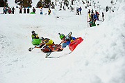 Kayak Snow Boater Cross at Mt. Rose SKi Tahoe.