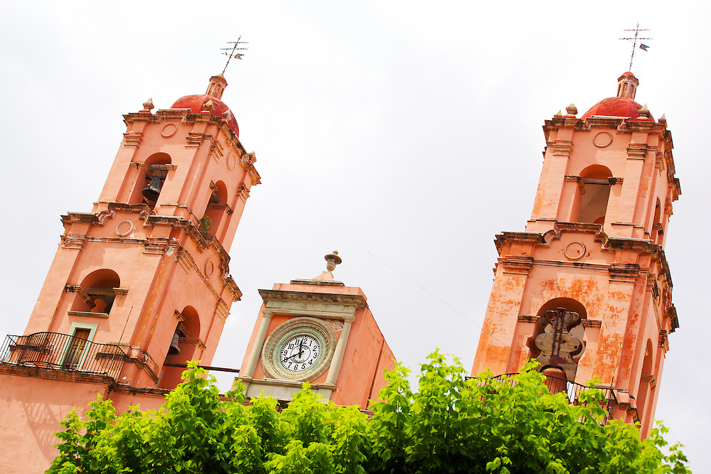Clock and bell towers in Guanajuato, México