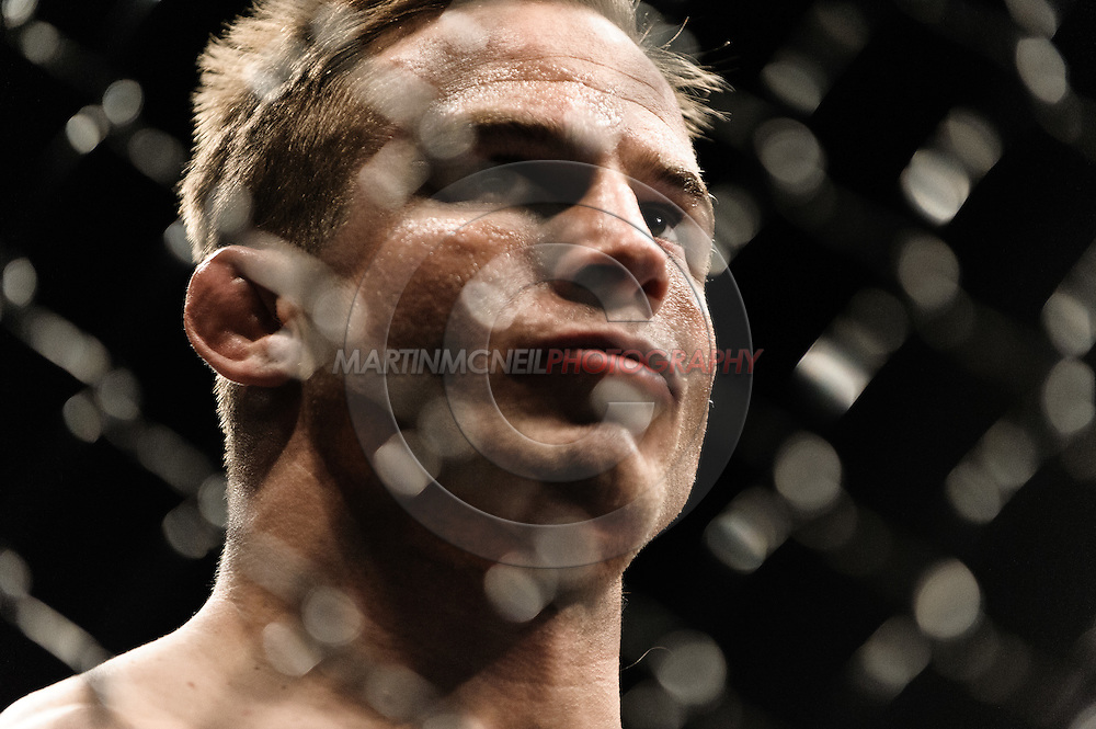 "LAS VEGAS, NEVADA, MAY 24, 2008: UFC lightweight title challnger Sean Sherk during ""UFC 84: Ill Will"" inside the MGM Grand Garden Arena in Las Vegas"