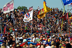 24 April 2016. New Orleans, Louisiana.<br /> The New Orleans Jazz and Heritage Festival. <br /> Huge crowds attended the Festival.<br /> Photo; Charlie Varley/varleypix.com