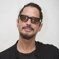 April 12, 2017 - Hollywood, California, U.S. - CHRIS CORNELL promotes 'The Promise' Chris Cornell (born Christopher John Boyle; July 20, 1964) is an American musician, singer and songwriter, best known as the lead vocalist, primary songwriter and rhythm guitarist for Seattle rock band Soundgarden and as lead vocalist and songwriter for the supergroup Audioslave. Founder and frontman for Temple of the Dog, the one-off tribute band. Cornell is also known for his role as one of the architects of the 1990s grunge movement, for his extensive catalog as a songwriter and for his near four octave vocal range as well as his powerful vocal belting technique. (Credit Image: © Armando Gallo/ZUMA Studio)