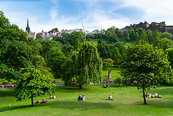 Princes Street Gardens in Edinburgh , Scotland, UK