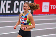 Marlee Starliper competes in the womens 2 mile run during the USA Indoor Track and Field Championships in Staten Island, NY, Sunday, Feb 24, 2019. (Rich Graessle/Image of Sport)