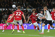 Derby County forward Jack Marriott (14) scores a goal 1-2 during the EFL Sky Bet Championship match between Derby County and Bristol City at the Pride Park, Derby, England on 20 August 2019.
