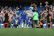 Chelsea defender John Terry (26) is given a guard of honour by the Sunderland players during the Premier League match between Chelsea and Sunderland at Stamford Bridge, London, England on 21 May 2017. Photo by John Potts.