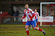 Dorking Wanderers Giuseppe Sole during the Ryman League - Div One South match between Dorking Wanderers and Lewes FC at Westhumble Playing Fields, Dorking, United Kingdom on 28 January 2017. Photo by Jon Bromley.