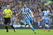 Brighton central midfielder, Dale Stephens (6) during the Sky Bet Championship match between Brighton and Hove Albion and Derby County at the American Express Community Stadium, Brighton and Hove, England on 2 May 2016.