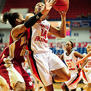 South Alabama's forward, Taylor Ammons (24), drives to the goal in the first half of play in Mobile, AL. Denver leads South Alabama 21-19 at halftime...