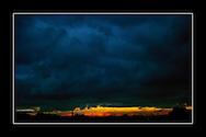 Dark sky as sun sets over Dublin City Pic:Marc O'Sullivan