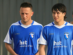 Admir Krsic and Etien Velikonja at 32th Round of Slovenian First League football match between NK Domzale and NK Hit Gorica in Sports park Domzale, on May 6, 2009, in Domzale, Slovenia. Gorica won 2:0. (Photo by Vid Ponikvar / Sportida)