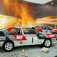 1983 Audi quattro A1 with 1984 Audi quattro A2, Group B Exhibition, Audi Museum Mobile, Ingolstadt Germany 2009