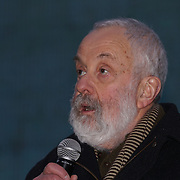 Speaker Mike Leigh attends The Salesman, Trafalgar Square,London,UK. by See Li