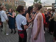 VICTORIA BECKHAM; EMILY SHEFFIELD; ; ROSAMUND PIKE, Alex Shulman goodbye party. Dock Kitchen, Ladbroke Grove. London. 22 June 2017