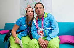 Spela Rozman and Marko Pangerc of Slovenia in Paralympic village during Day 2 of the Summer Paralympic Games London 2012 on August 29, 2012, in Pralympic village, London, Great Britain. (Photo by Vid Ponikvar / Sportida.com)
