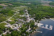 Aerial view of Egg Harbor, Door County, Wisconsin.