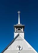 Charming country church detail, Steuben County, Ohio, USA.