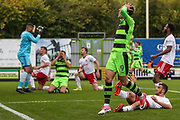 Forest Green Rovers Christian Doidge(9) goes close with a shot during the EFL Sky Bet League 2 match between Forest Green Rovers and Accrington Stanley at the New Lawn, Forest Green, United Kingdom on 30 September 2017. Photo by Shane Healey.