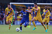 AFC Wimbledon striker Andy Barcham (17) during the Pre-Season Friendly match between AFC Wimbledon and Crystal Palace at the Cherry Red Records Stadium, Kingston, England on 27 July 2016. Photo by Stuart Butcher.