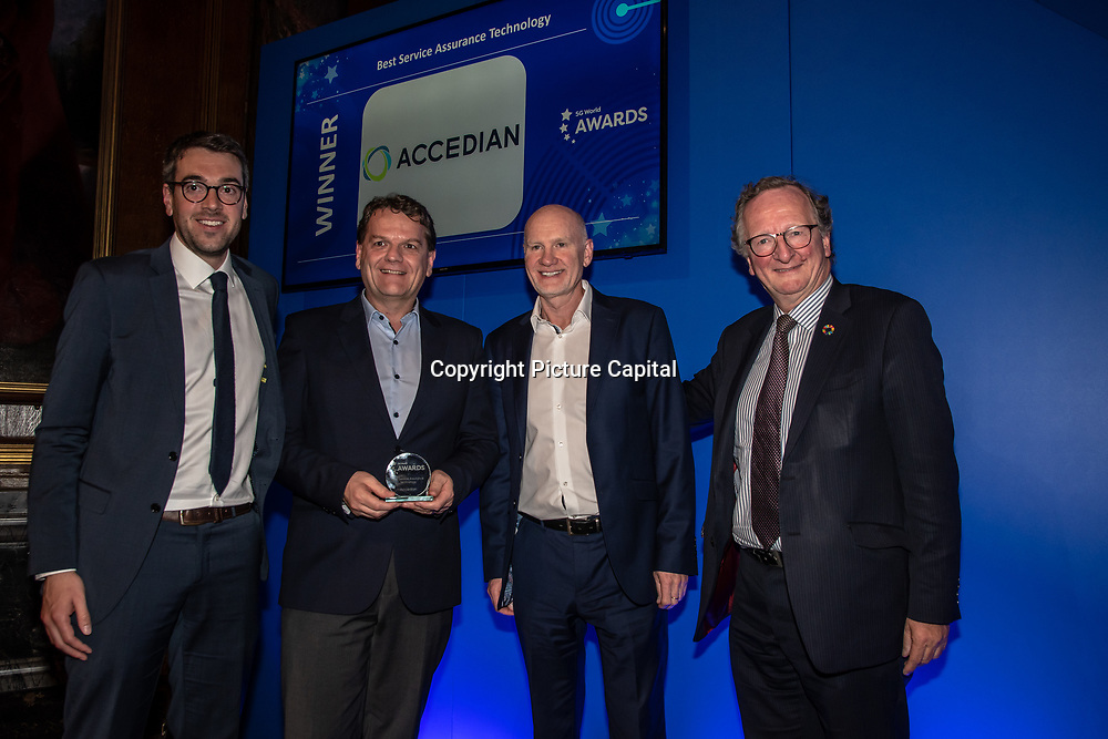Accedian winner of Best Service Assurance Technology of the 5G Awards ceremony at Drapers' Hall, on 12 June 2019, London, UK.