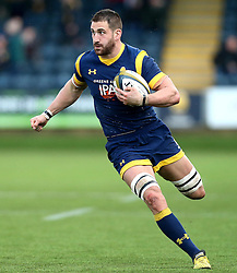 Matt Cox of Worcester Warriors runs with the ball - Mandatory by-line: Robbie Stephenson/JMP - 28/01/2017 - RUGBY - Sixways Stadium - Worcester, England - Worcester Warriors v Harlequins - Anglo Welsh Cup