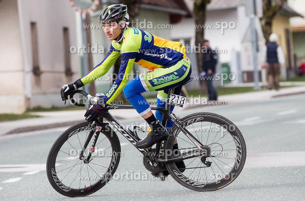 Tadej Valjavec of Sava Kranj during cycling race 15th Grand Prix Sencur of Tchibo Top Rad Liga 2013 on April 7, 2013 in Sencur, Slovenia.  (Photo By Vid Ponikvar / Sportida)