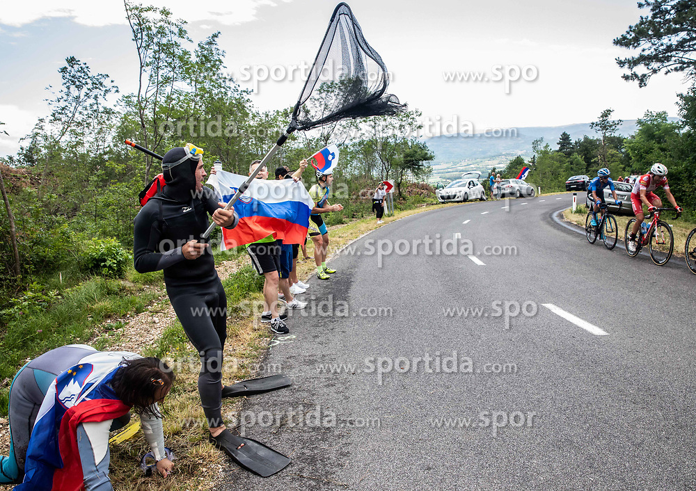 Supporters during 4th Stage of 26th Tour of Slovenia 2019 cycling race between Nova Gorica and Ajdovscina (153,9 km), on June 22, 2019 in Slovenia. Photo by Vid Ponikvar / Sportida