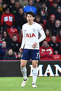 Son Heung-Min (7) of Tottenham Hotspur during the Premier League match between Bournemouth and Tottenham Hotspur at the Vitality Stadium, Bournemouth, England on 11 March 2018. Picture by Graham Hunt.