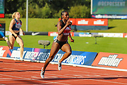 Dina ASHER-SMITH sprints to win the Women's 100m Final during the Muller British Athletics Championships at Alexander Stadium, Birmingham, United Kingdom on 24 August 2019.