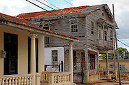 Dilapidated wooden house in San Cristobal, Artemisa, Cuba.