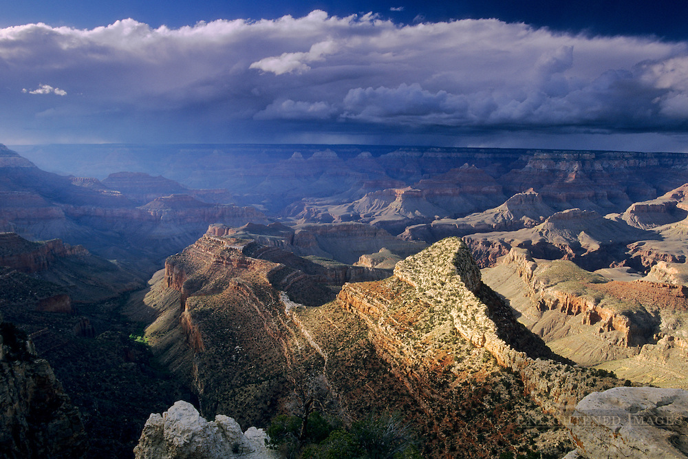 Storm clouds and sunlight from Grandview Point, South Rim Grand Canyon National Park, Arizona