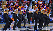 SAN DIEGO, CA - MARCH 16:  The Clemson Tigers cheerleaders perform during a first round game of the Men's NCAA Basketball Tournament against the New Mexico State Aggies at Viejas Arena in San Diego, California. Clemson won 79-68.  (Photo by Sam Wasson)