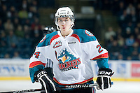 KELOWNA, CANADA, JANUARY 25: Tyson Baillie #24 of the Kelowna Rockets skates on the ice as the Kamloops Blazers visit the Kelowna Rockets on January 25, 2012 at Prospera Place in Kelowna, British Columbia, Canada (Photo by Marissa Baecker/Getty Images) *** Local Caption ***