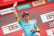 Podium Miguel Angel Lopez (COL - Astana Pro Team) during the 73th Edition Tour of Spain, Vuelta Espana 2018, stage 10 cycling race, Salamanca - Fermoselle Bermillo de Sayago 177 km on September 4, 2018 in Spain - Photo Luca Bettini / BettiniPhoto / ProSportsImages / DPPI