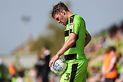 Forest Green Rovers Scott Laird(3) during the EFL Sky Bet League 2 match between Forest Green Rovers and Grimsby Town FC at the New Lawn, Forest Green, United Kingdom on 5 May 2018. Picture by Shane Healey.